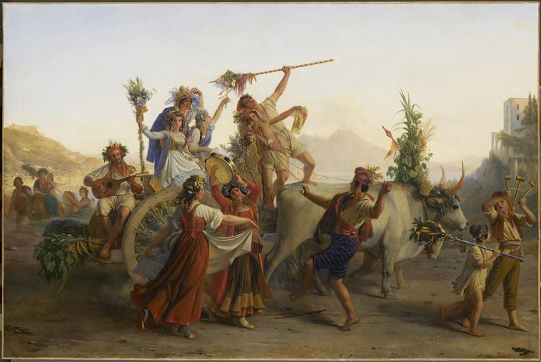 LE RETOUR DE LA FETE DE LA MADONE DE L'ARC, PRES DE NAPLES_0