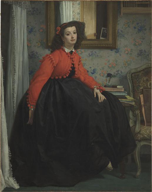 Portrait de Mlle L. L..., dit aussi Jeune fille en veste rouge_0