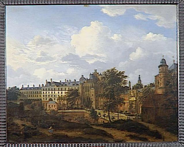 VUE DE L'ANCIEN CHATEAU DES DUCS DE BOURGOGNE A BRUXELLES_0