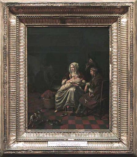 Femme allaitant un enfant, dit autrefois : Une famille flamande_0