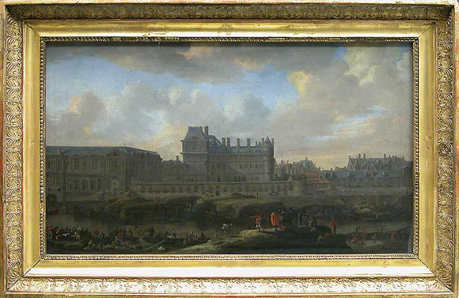 Vue de l'ancien Louvre et du petit Bourbon prise de la Seine_0