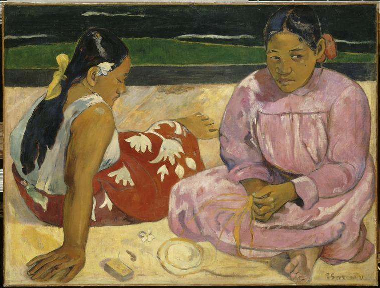 Femmes de Tahiti, ou Sur la plage_0