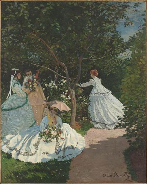 Femmes au jardin, à Ville d'Avray_0