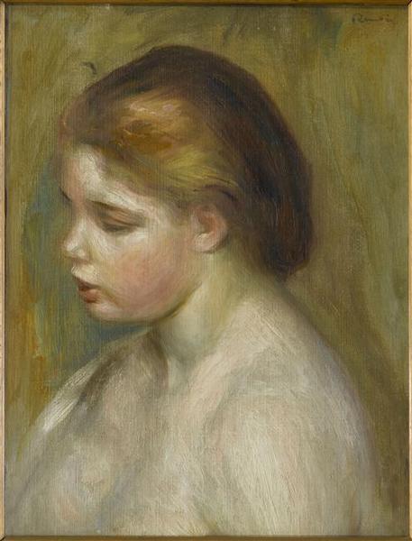 Jeune femme nue en buste_0