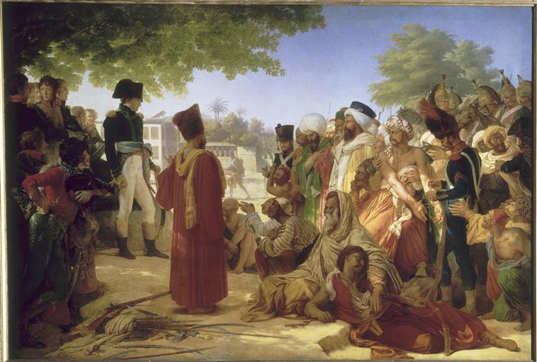 BONAPARTE FAIT GRACE AUX REVOLTES DU CAIRE.23 OCTOBRE 1798_0