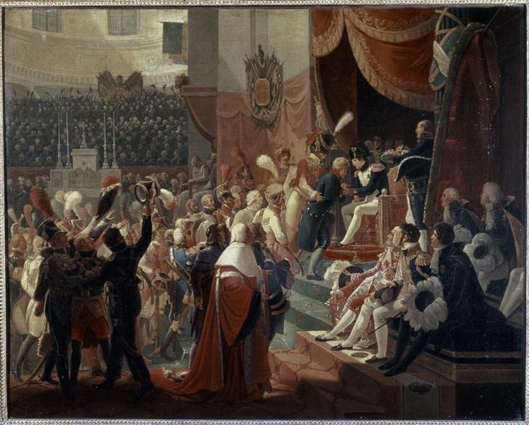 Première distribution des croix de la Légion d'honneur dans l'église des Invalides par l'empereur, 14 juillet 1804_0