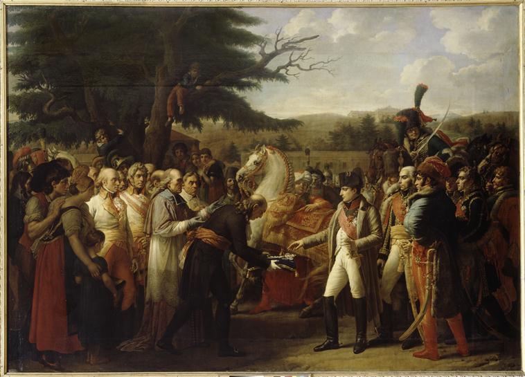 NAPOLEON RECOIT LES CLEFS DE LA VILLE DE VIENNE.13 NOVEMBRE 1805_0