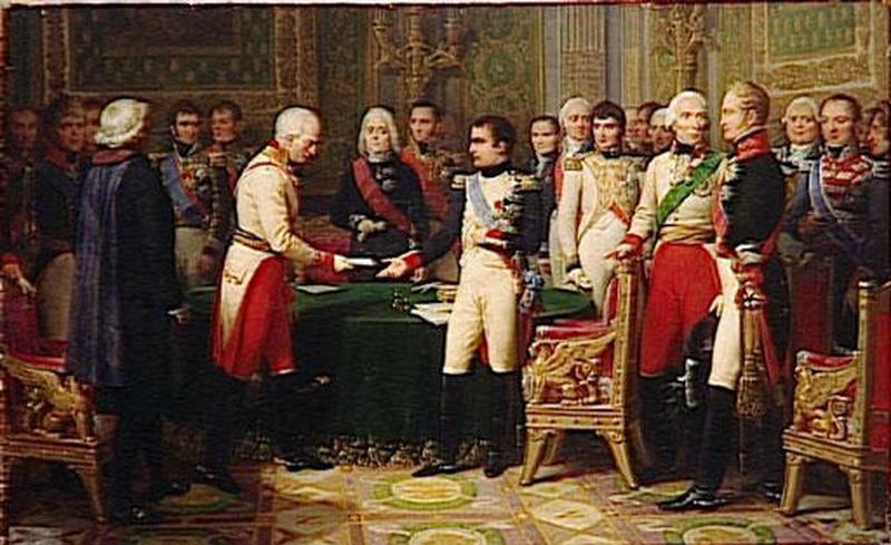 NAPOLEON RECOIT A ERFURT L'AMBASSADEUR D'AUTRICHE.OCTOBRE 1808_0