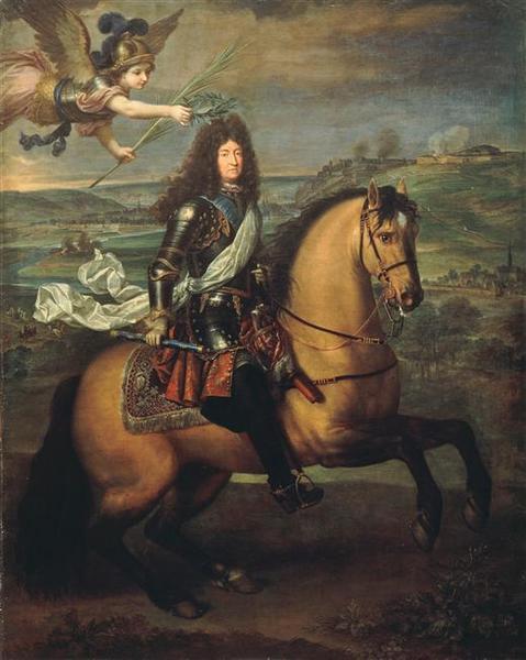 Louis XIV à cheval couronné par la Victoire_0