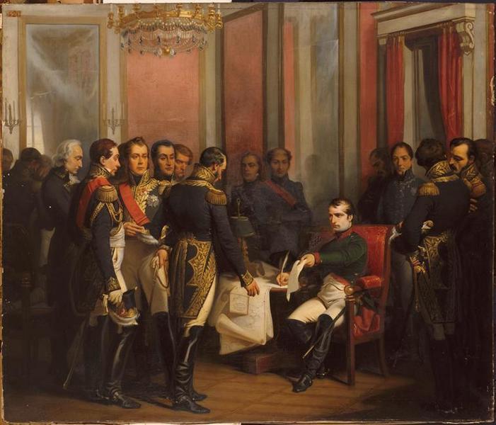 Napoléon signe son abdication à Fontainebleau, 4 avril 1814_0