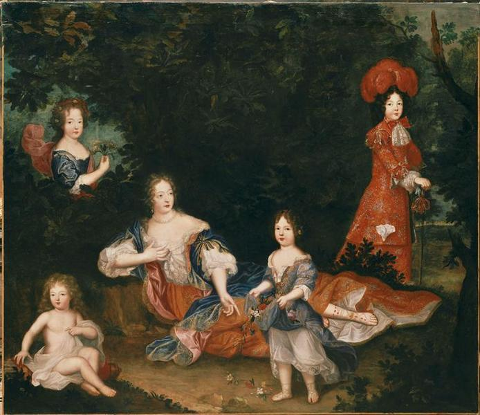 Madame de Montespan, le duc du Maine, le comte de Véxin, mademoiselle de Nantes et mademoiselle de Tours ; Madame de Montespan et ses enfants (autre titre)_0