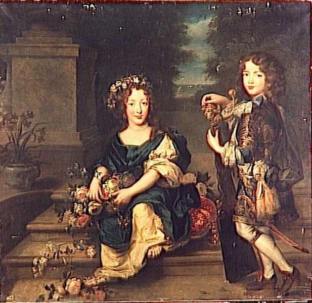 ANNE MARIE DE BOURBON, FUTURE PRINCESSE DE CONTI ET LOUIS DE BOURBON, COMTE DE VERMANDOIS_0