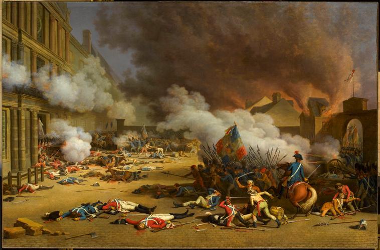 PRISE DU PALAIS DES TUILERIES, COUR DU CARROUSEL.10 AOUT 1792_0