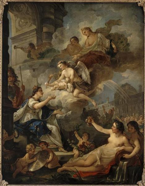 Allégorie de la naissance de Marie-Zéphirine de France, fille du dauphin  Louis de France