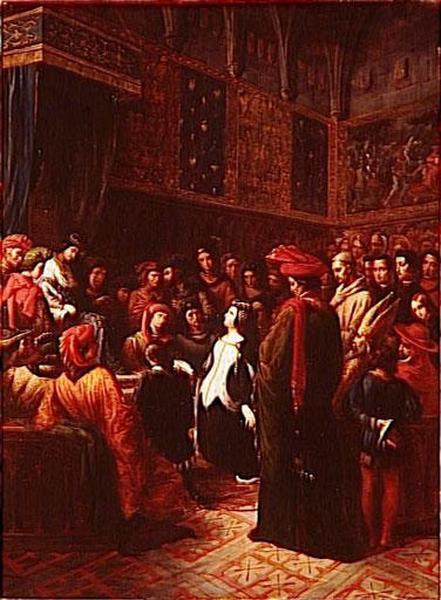 VALENTINE DE MILAN DEMANDE JUSTICE DE L'ASSASSINAT DU DUC D'ORLEANS.NOVEMBRE 1407_0