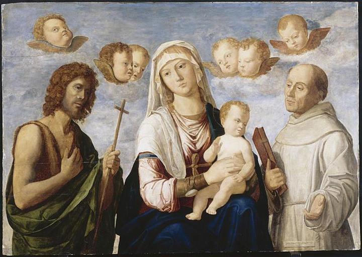 LA VIERGE ET L'ENFANT ENTRE SAINT JEAN-BAPTISTE ET SAINT FRANCOIS_0