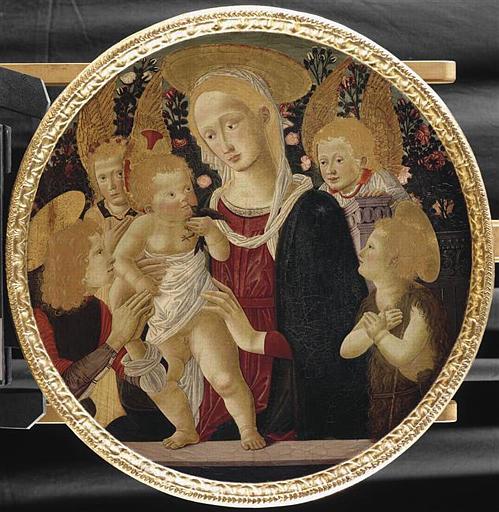 LA VIERGE ET L'ENFANT (avec un jeune saint, le petit saint Jean-Baptiste et deux anges)_0