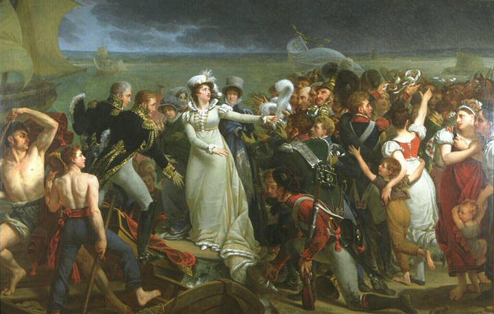 Embarquement de la Duchesse d'Angoulême à Pauillac