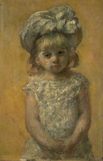Portrait de fillette ; La robe de dentelle (autre titre)_0