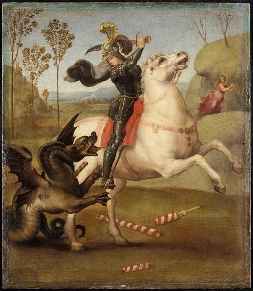 Saint Georges luttant avec le dragon_0