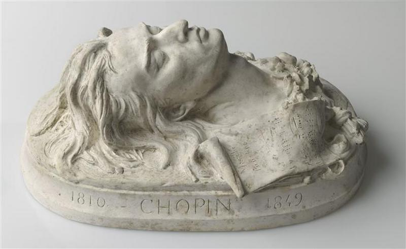 masque mortuaire de Frédéric Chopin (1810-1849), compositeur