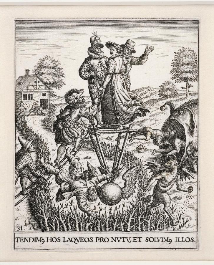 Emblemata saecularia ; TENDIM.HOS LAQUEUS PRO NUTU. ET SOLIM. ILLOS_0