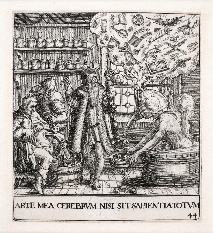 Emblemata saecularia (planche 44) ; ARTE MEA CEREBRUM NISI SIT SAPIENTIATOTUM_0