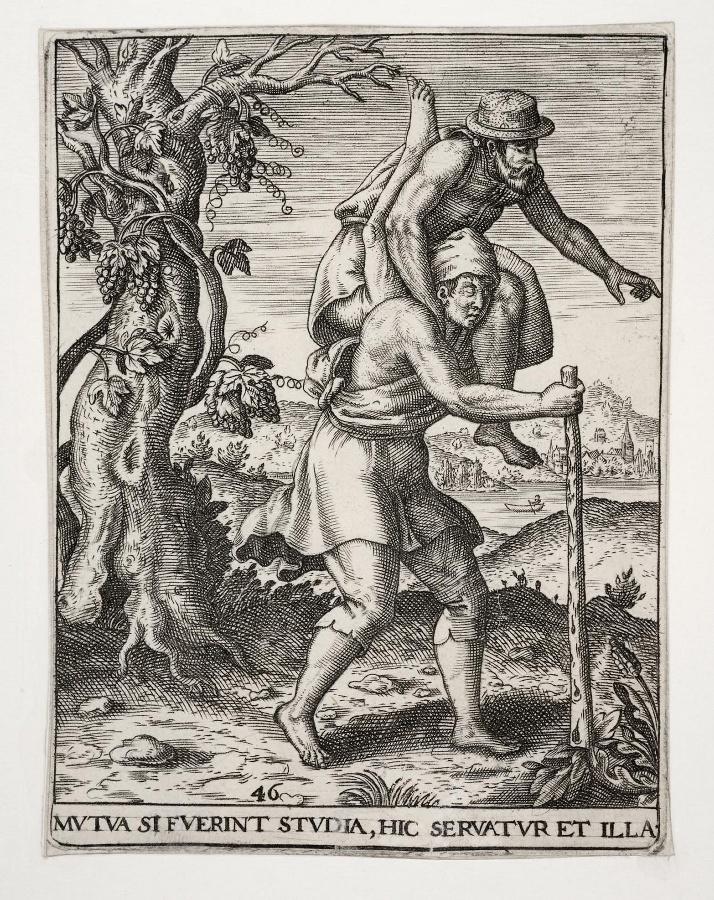 Emblemata saecularia (planche 46) ; MUTUA SI FUERINT STUDIA, HIC SERVATUR ET ILLA_0