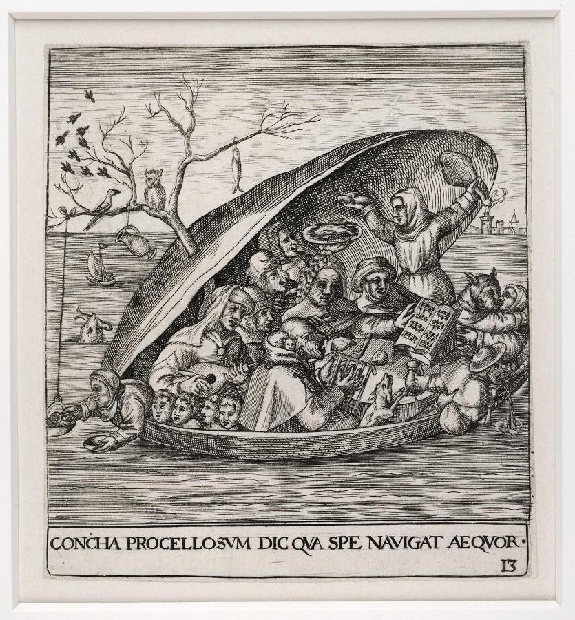 Emblemata saecularia (planche 13) ; CONCHA PROCELLOSUM DIC QUA SPE, NAVIGAT AEQUOR