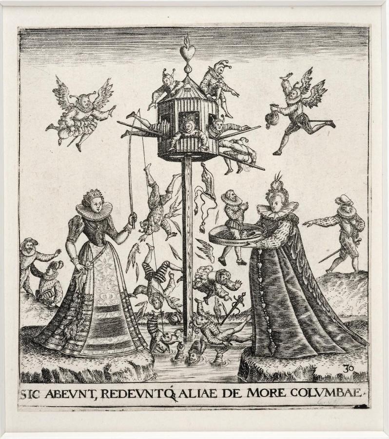Emblemata saecularia (planche 30) ; SIC ABEUNT REDEUNTQ. ALIAE DE MORE COLUMBAE
