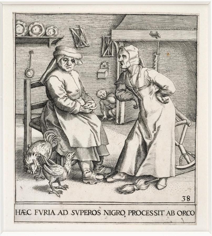 Emblemata saecularia (planche 38) ; HAEC FURIA AD SUPEROS NIGRO PROCESSIT AB ORCO_0