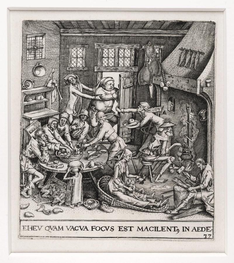 Emblemata saecularia (planche 37) ; EHEV QUAM VACUA FOCUS EST MACILENT. IN AEDE_0