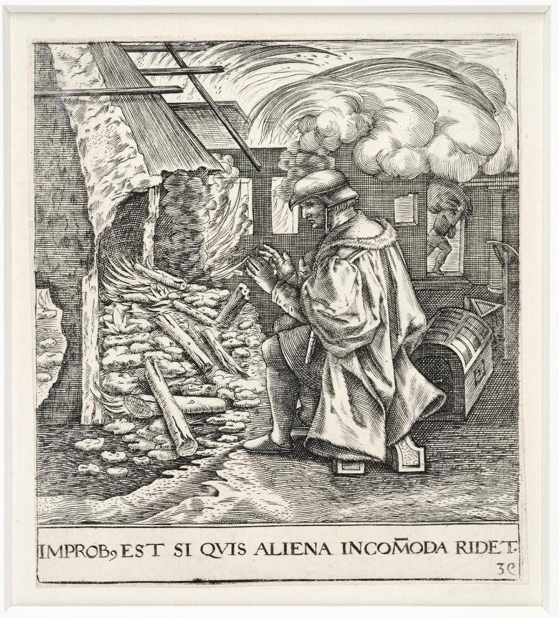 Emblemata saecularia (planche 39) ; HAEC FURIA AD SUPEROS NIGRO PROCESSIT AB ORCO_0