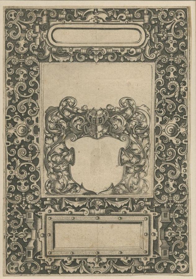 Emblemata Nobilitati ; Gravure d'ornement