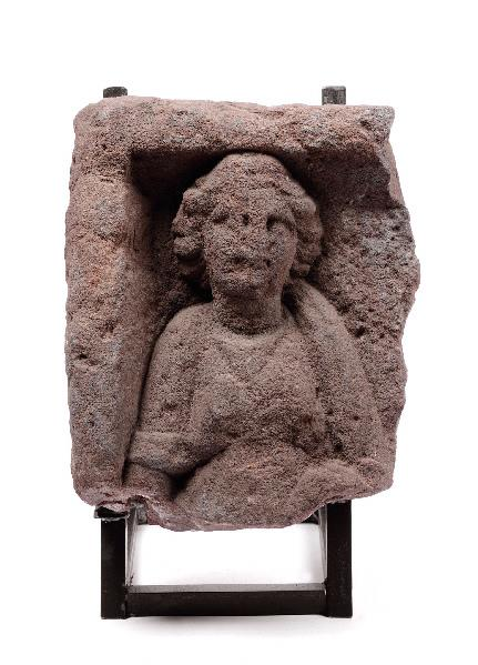 Stèle de Mercure (?) avec déesse_0