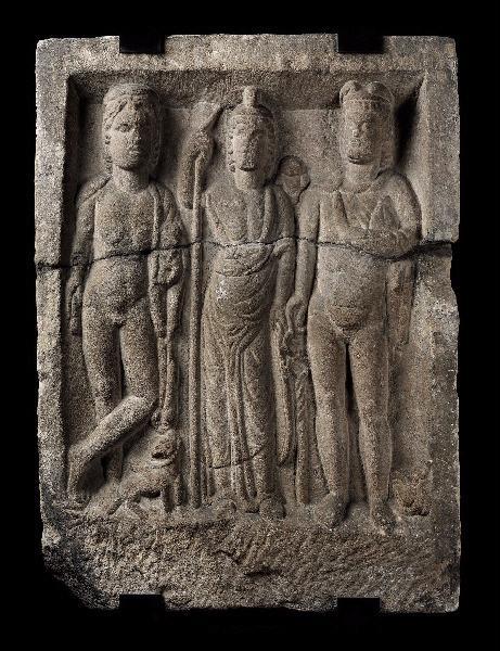 Stèle avec Mercure, Minerve et Apollon_0