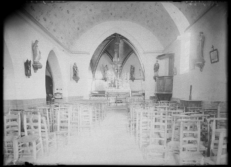 Intérieur de l'église - Belhade (Landes) (Titre attribué)_0