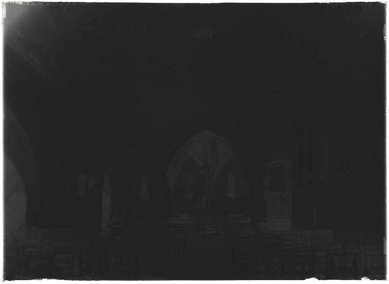 ARNAUDIN Félix : Intérieur de l'église - Belhade (Landes) (Titre attribué)
