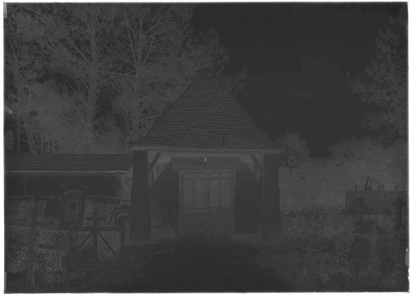 ARNAUDIN Félix : Porche du cimetière - Labouheyre (Landes) (Titre attribué)