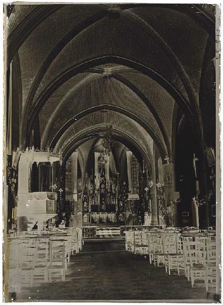 ARNAUDIN Félix : Intérieur de l'église - Labouheyre (Landes) (Titre attribué)