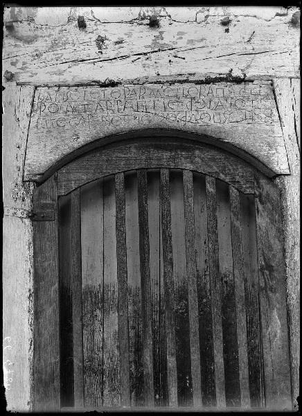 Fronton gravé - Lüe (Landes) (Titre attribué)
