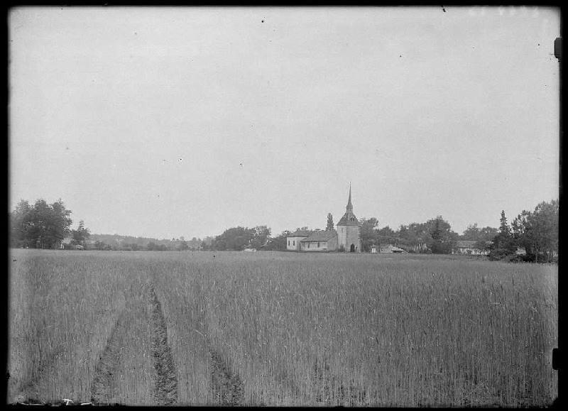 ARNAUDIN Félix : église et village - Luglon (Landes) (Titre attribué)