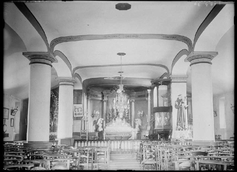 ARNAUDIN Félix : Intérieur de l'église - Luglon (Landes) (Titre attribué)
