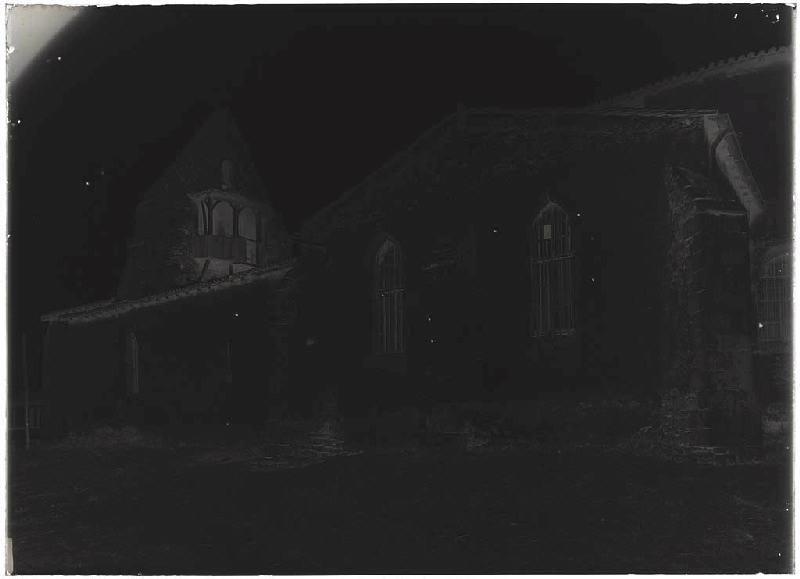 ARNAUDIN Félix : église avant démolition - Pissos (Landes) (Titre attribué)