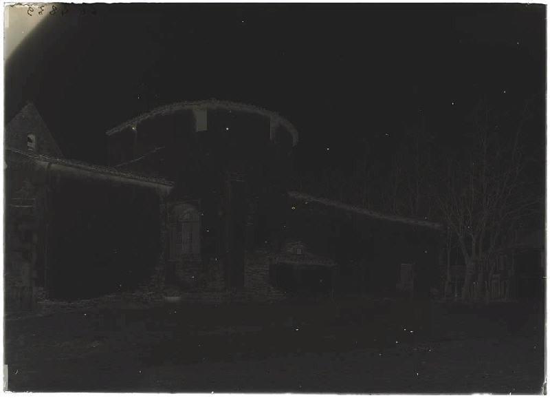 église avant démolition - Pissos (Landes) (Titre attribué)