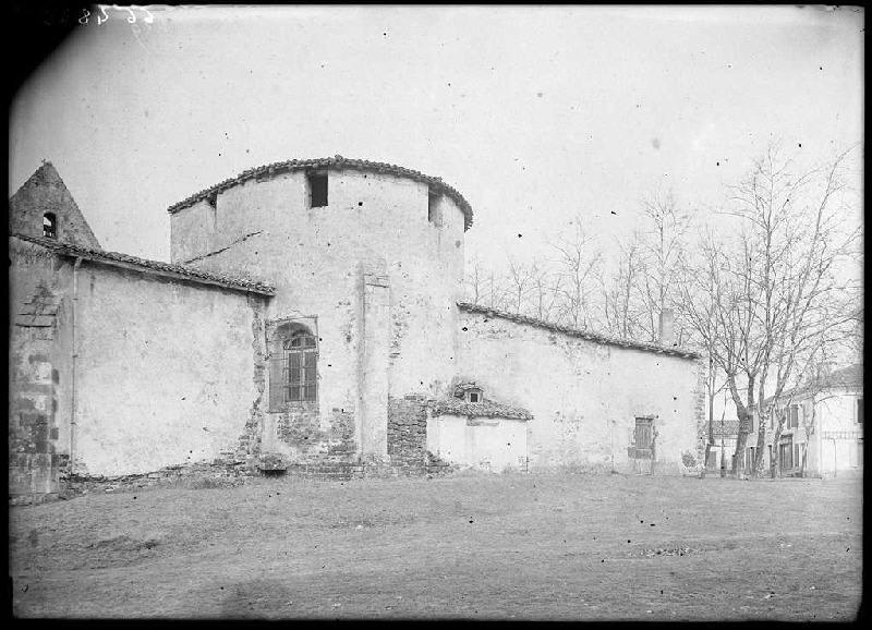 Église avant démolition - Pissos (Landes) (Titre attribué)_0