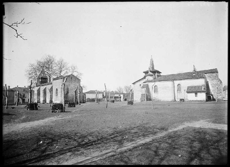 Les deux églises - Moustey (Landes) (Titre attribué)