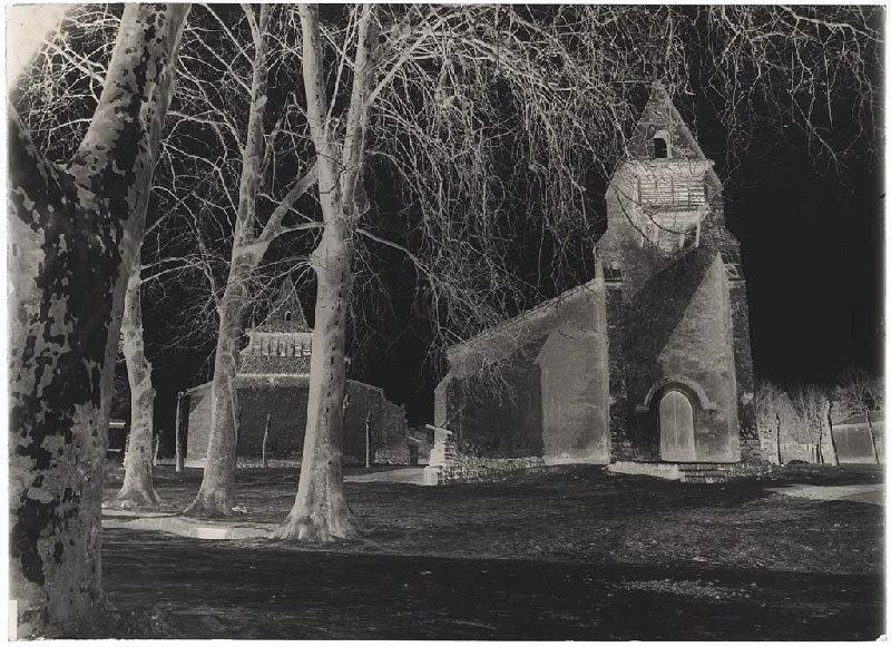 ARNAUDIN Félix : Les deux églises - Moustey (Landes) (Titre attribué)