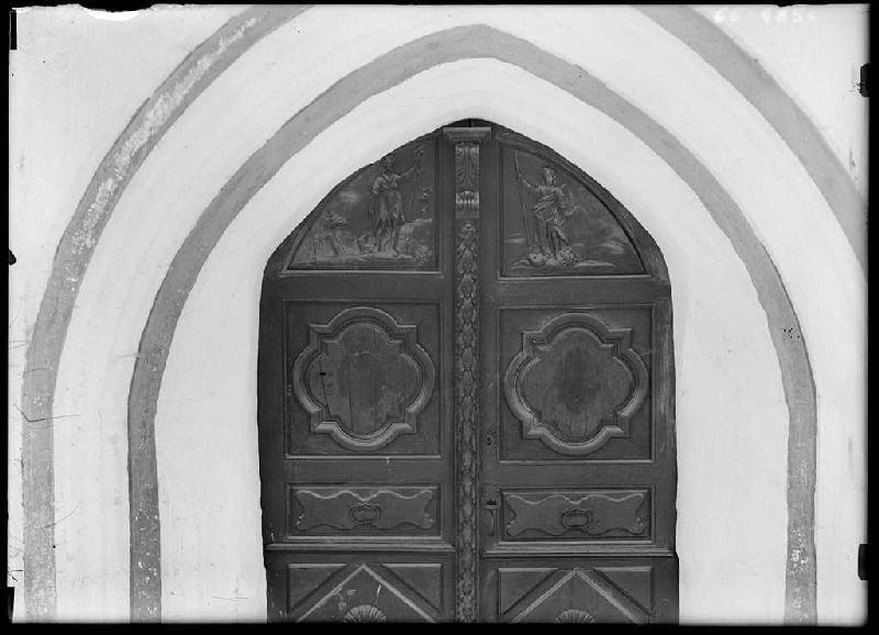 Portail intérieur de l'église de Richet - Pissos (Landes) (Titre attribué)_0
