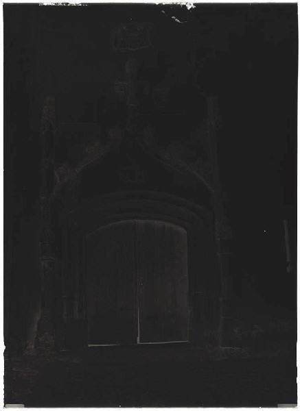 ARNAUDIN Félix : Portail de l'église - Saint-Julien-en-Born (Landes) (Titre attribué)